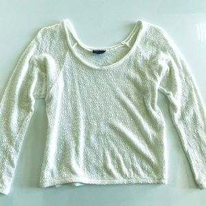 Topshop White Off Shoulder Sweater Size 4